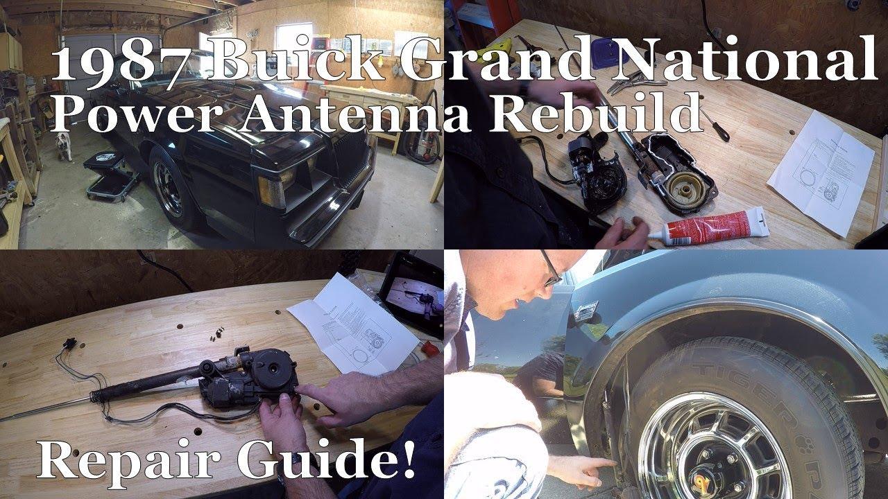 Power Antenna Rebuild Repair 1987 Grand National G Body Turbo Buick Gn Wiring Under Hood Regal