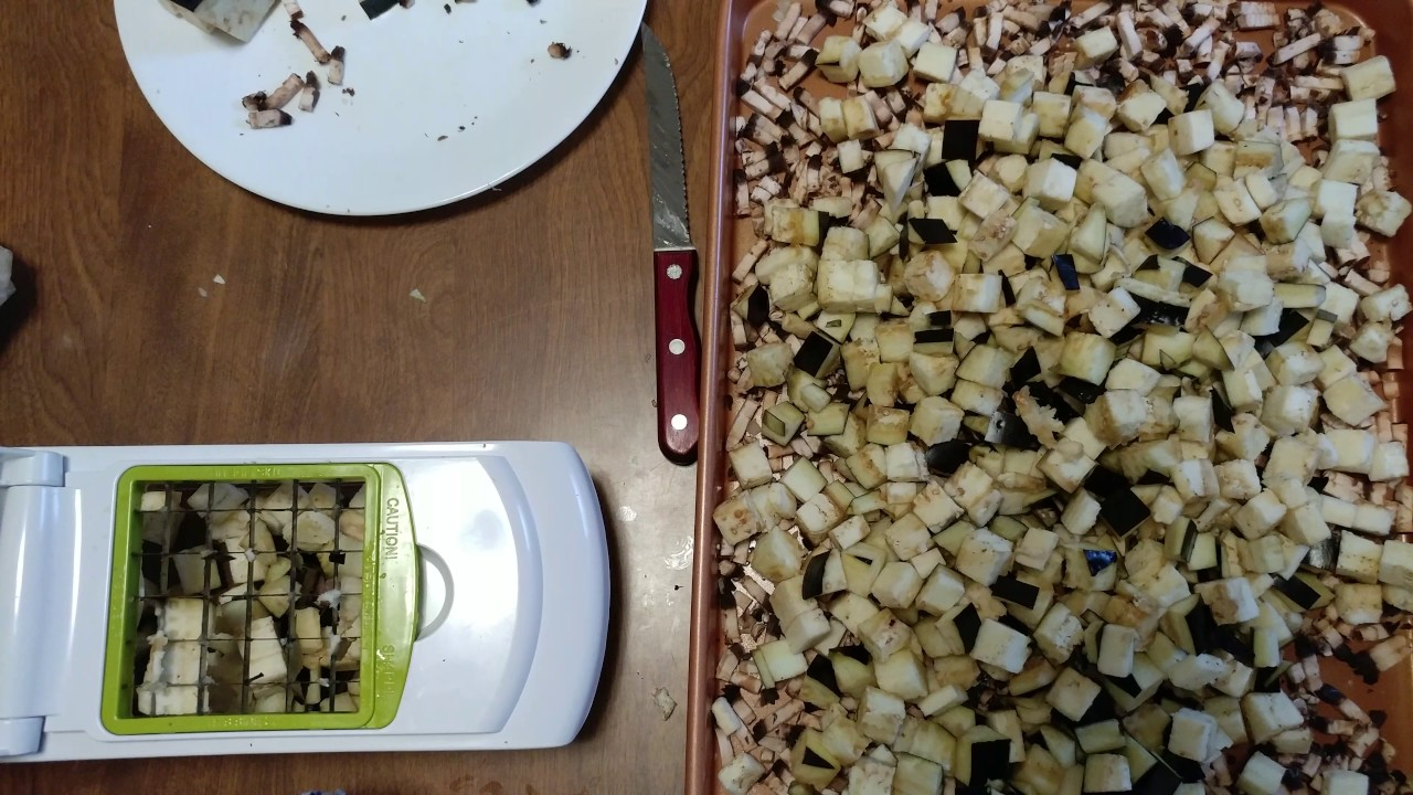 How To Chop Eggplant Using Sharper Image Chopper Youtube