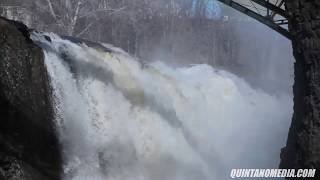 Storm Aftermath major flooding in paterson new jersey great falls of the passaic river