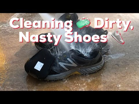 How to Clean a Pair of Dirty, Nasty, Stinking Athletic Shoes - Tennis, Running, or Walking Shoes