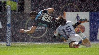 Great Tommy Seymour Break and Key Try for Glasgow Warriors v Cardiff Blues 6th Sept 2013