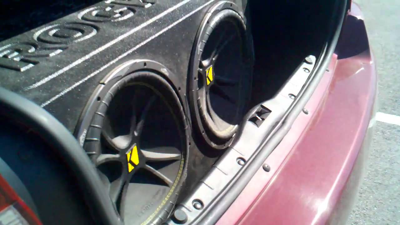 2 15 Inch Kicker Competition Subs In My 04 Malibu Youtube