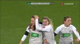 Frauenfußball Bundesliga 2019 20 15 Spieltag Vfl Wolfsburg vs  Turbine Potsdam