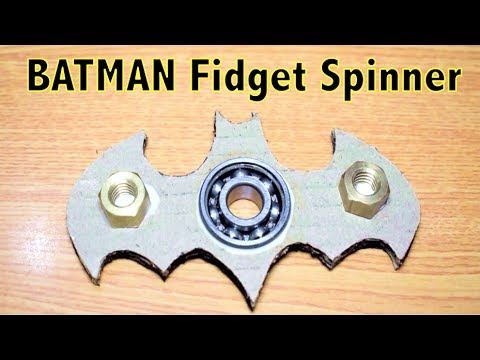How to make a BATMAN Fidget Spinner using the BEARING | NERF WAR