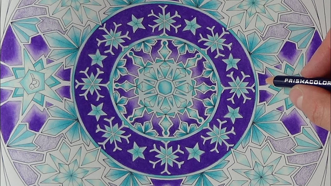 How I color stars mandala Tutorial Prismacolor Johanna´s Christmas ...