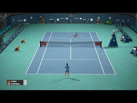 AO International Tennis - Tatjana Maria vs Sloane Stephens - PS4 Gameplay