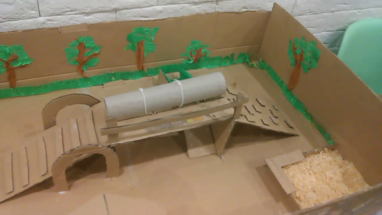 Groovy Stuu i plac zabaw zrobiony z kartonu dla chomika: ) - YouTube FF18