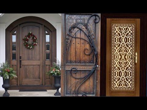 40 Modern Wooden Front Door Ideas | Creative Wood Work on House ...