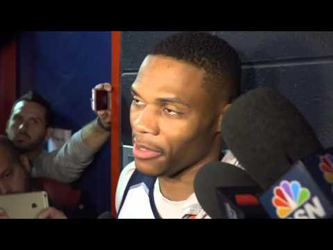 Russell Westbrook after shootaround in D.C. Nov. 10, 2015