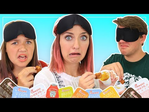 Chicken Nugget Challenge (Condiment Sauce Edition) | Brooklyn and Bailey