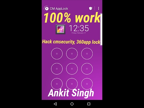 How to hack   cm security   360 security   applock   in few seconds  