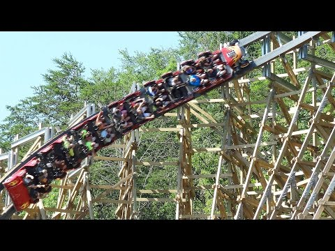 Lightning Rod Launched, Fastest Wooden Coaster Off-Ride Video - Dollywood June 2016