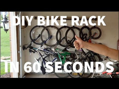 Building a compact bike rack for 6 bikes in 60 seconds.