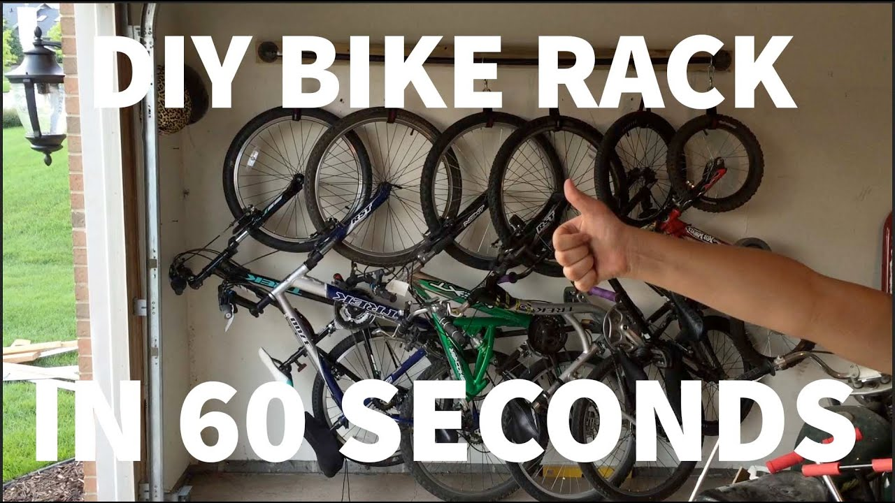 Building A Compact Bike Rack For 6 Bikes In 60 Seconds Youtube