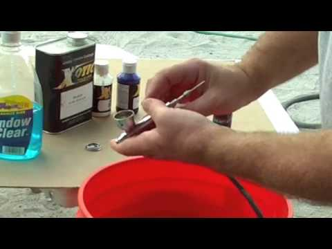 Airbrush Basics 1 Cleaning Setting Up Iwata Airbrushing how to instructions