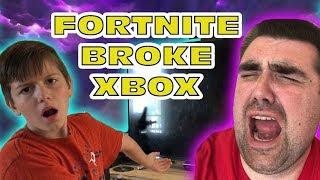 Kid Temper Tantrum - Fortnite Season 4 NOT WORKING On His Xbox - Fortnite Is BROKEN