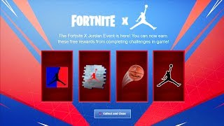 FORTNITE X JORDAN EVENT LEAKED! NOUVEAU MICHAEL JORDAN LTM REWARDS/ CHALLENGES! NOUVEAU FORTNITE X NIKE LTM!