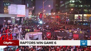 Fans react to Raptors East finals win