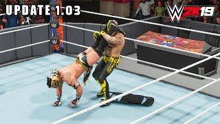 WWE 2K19 Update 1.03 - Rey Mysterio vs Kalisto - PC Gameplay