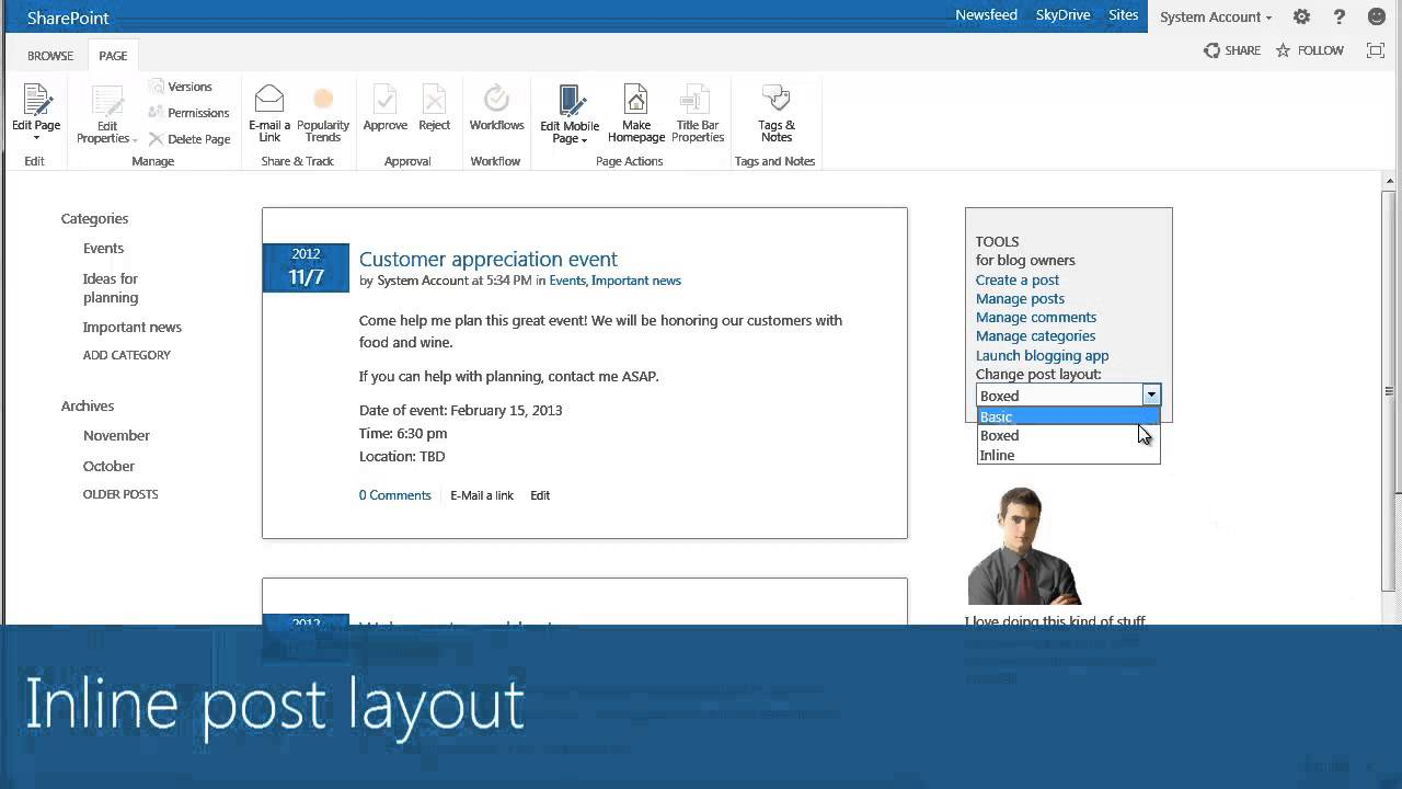 how to manage your sharepoint 2013 blog post layout