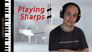 How to Read Notes With Sharps for Beginners - Learn to Play Piano Lesson 12 -