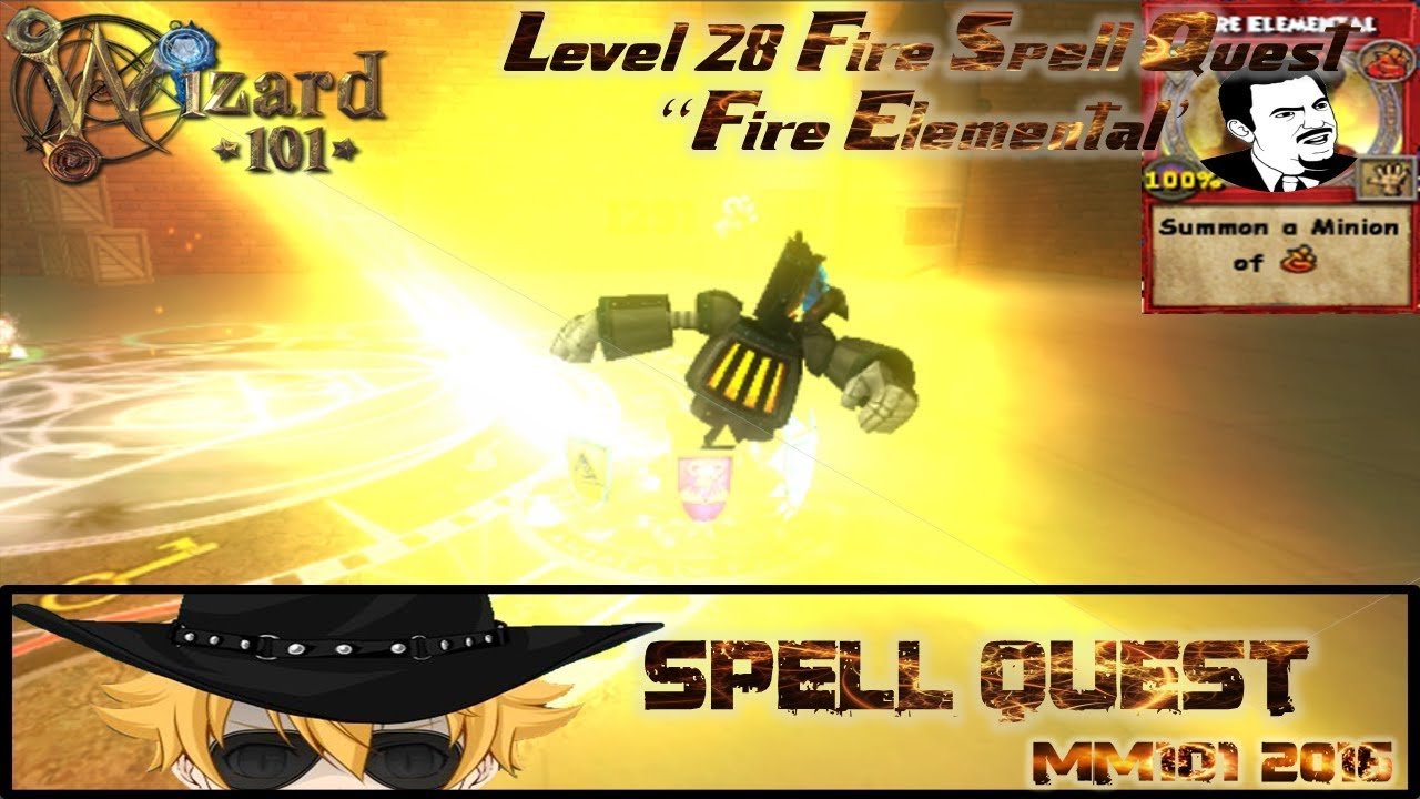 Wizard101 - Level 28 Fire Spell Quest: `Fire Elemental` by Duncan Iron