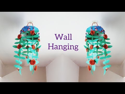 How To Make Wind Chime Out Of Paper→Homemade Paper Wind Chime→Paper Hanging Decoration