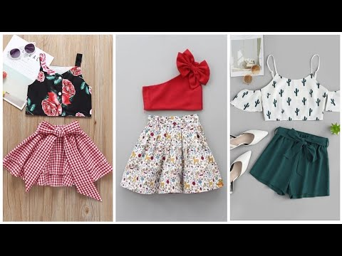 Baby girl outfit ideas 2020 || Crop top & Skirt for baby girls || Kids girls dresses design