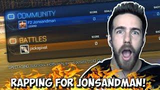 RAPPING FOR JONSANDMAN IN ROCKET LEAGUE | Team Pixel Vs Team Sandman