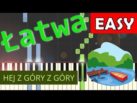 🎹 Hej z góry z góry - Piano Tutorial (łatwa wersja) 🎹