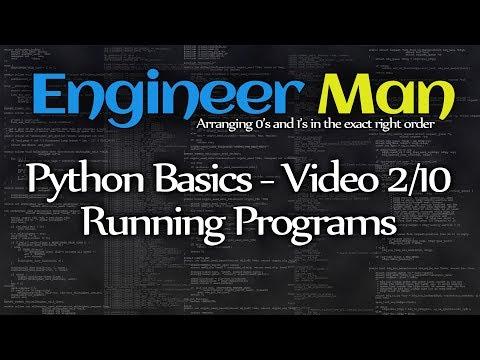 Running Programs - Python Basics 2/10