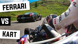 "LaFerrari Aperta VS KART ""Giau Pass"" Italian Dolomites"