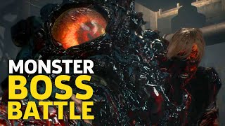 Resident Evil 2 Remake PS4 Gameplay: G-Virus Monster Boss Battle