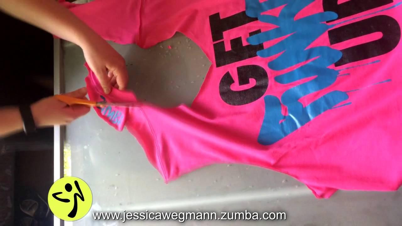 Design your own t-shirt by cutting - Zumba T Shirt Cut By Jessica Wegmann