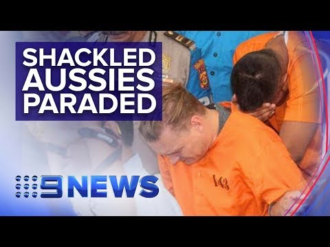 Bali Police Parade Two Australians Charged With Cocaine Possession | Nine News Australians