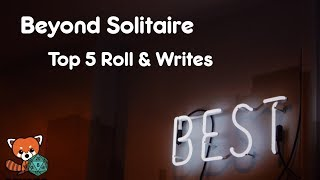 Top 5 Solo Roll & Write Games