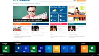 Tuto Gestion des favoris avec l'application IE (Windows 8)