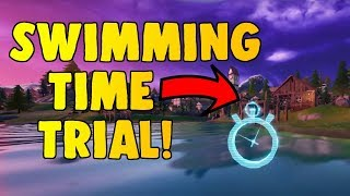 Fortnite Complete The Swimming Timed Trials At Lazy Lake