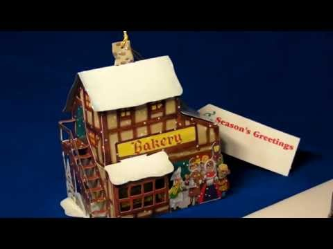 VILLAGE BAKERY POP-UP CHRISTMAS CARD ORNAMENT
