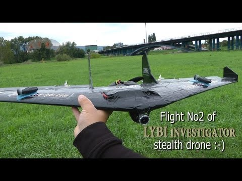 "Flight No2 of ""LYBI investigator"" stealth drone :-) (18.09.2013.)"
