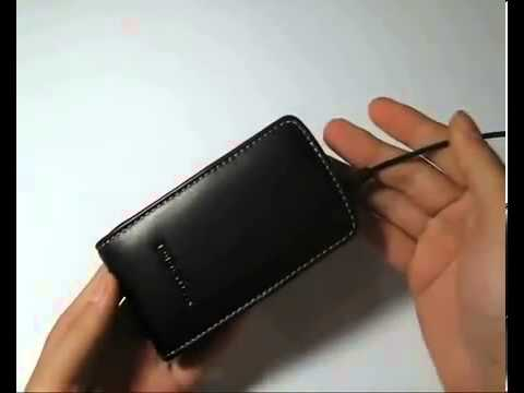 Pdair Leather Case For Acer Allegro M310 Vertical Pouch Type Black) 491