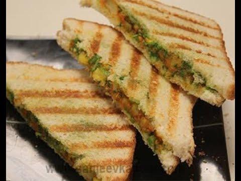 Bread Omelette Sandwich On Sandwich Maker Recipe | 2 Minute Cheese Recipe