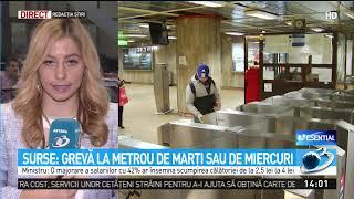 Surse: Grevă la metrou de marți sau de miercuri