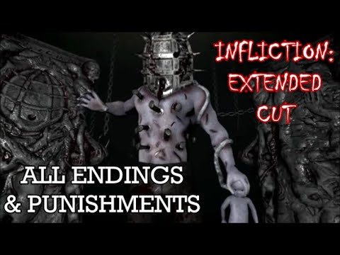 Infliction: Extended Cut - Both Endings u0026 All 4 Punishments