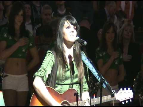 Mia Boostrom  2009 Boston Celtics National Anthem