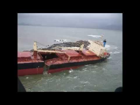 Salvage Classic - Monsoon breaks ship in half