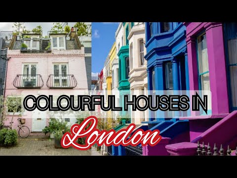London walk with beautiful colourful houses in Notting Hill (part 2)