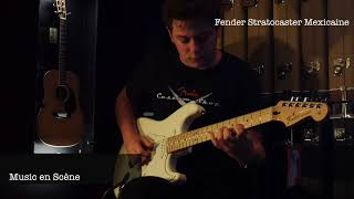 Gambar cover Démo Fender Stratocaster Standard Mexicaine Maple Neck