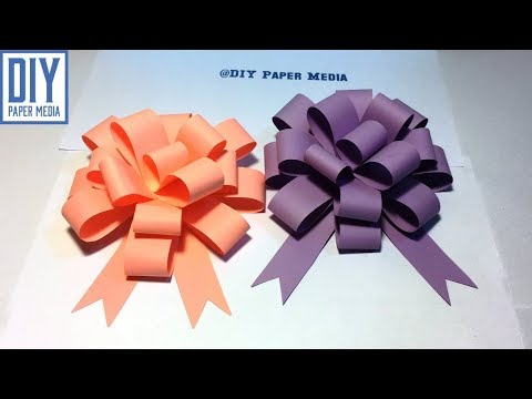 How to make bow gift wrap paper | Diy easy origami bow paper | Bow paper folding tutorials