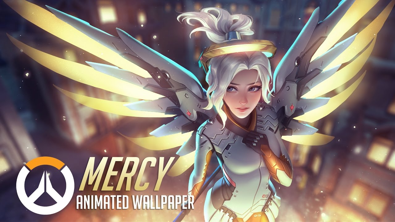 Fall Themed Computer Wallpaper Mercy Animated Wallpaper Overwatch Youtube